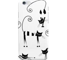 Amusing cats design set iPhone Case/Skin