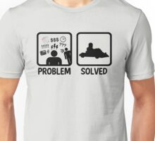 Problem Solved Go Kart Racing Unisex T-Shirt