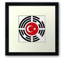 Korean Turkish Multinational Patriot Flag Series Framed Print