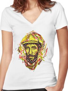 Lee Scratch Women's Fitted V-Neck T-Shirt