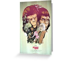 Planet of the Apes Poster Greeting Card