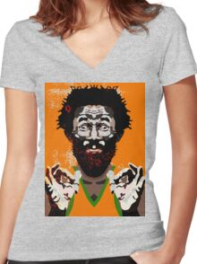 Lee Perry  Women's Fitted V-Neck T-Shirt