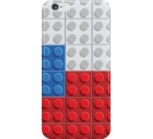 Czech flag lego pattern of plastic parts iPhone Case/Skin