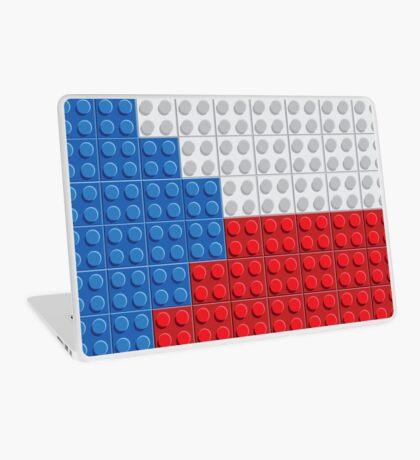 Czech flag lego pattern of plastic parts Laptop Skin