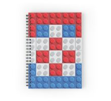 Croatia flag lego pattern of plastic parts Spiral Notebook