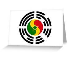 Korean Senegalese Multinational Patriot Flag Series Greeting Card