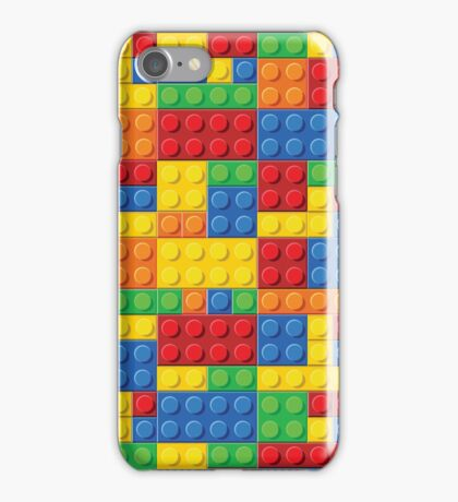 Lego - seamless pattern of plastic parts iPhone Case/Skin