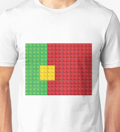 Lego - Portugal flag pattern of plastic parts Unisex T-Shirt