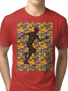 Lego - human body - running man  Tri-blend T-Shirt