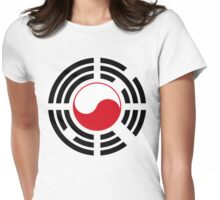 Korean Polish Multinational Patriot Flag Series Womens Fitted T-Shirt