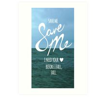 BTS-Save Me Art Print