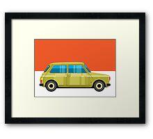 Mini Cooper - pop art car Framed Print