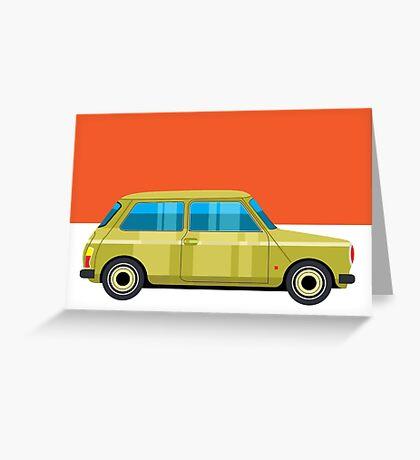 Mini Cooper - pop art car Greeting Card