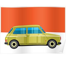 Mini Cooper - pop art car Poster