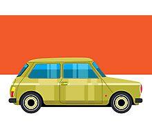 Mini Cooper - pop art car Photographic Print