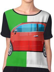 Fiat 500 pop art car Chiffon Top