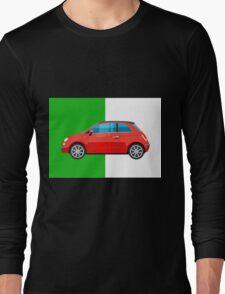 Fiat 500 pop art car Long Sleeve T-Shirt