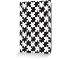 chess puzzle vector Greeting Card