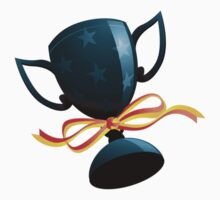 Football trophy with ribbon One Piece - Short Sleeve