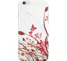 Stylish floral background iPhone Case/Skin