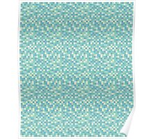 Clouds Pixel Geometric Pattern Poster