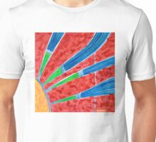 Green and Blue Sun Rays Unisex T-Shirt