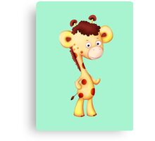 Cool Giraffe Canvas Print