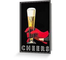 Card with Vintage Cheer Print Greeting Card