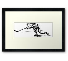 Ice hockey player silhouette Framed Print