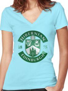 Hibernian FC Women's Fitted V-Neck T-Shirt