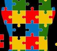 puzzle head design Sticker