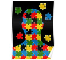 puzzle head design Poster