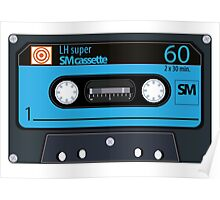 Cassette - vintage audio tapes Poster