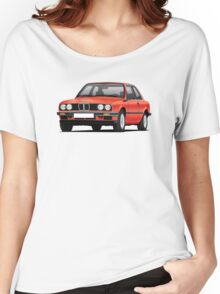 BMW E30 (3-serie) illustration, red Women's Relaxed Fit T-Shirt