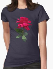 Red rose Womens Fitted T-Shirt