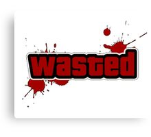 "-GEEK- Wasted ""GTA"" Canvas Print"