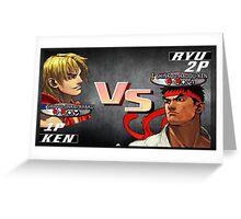 Ryu Vs. Ken Greeting Card