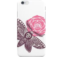 Night butterfly illustration iPhone Case/Skin