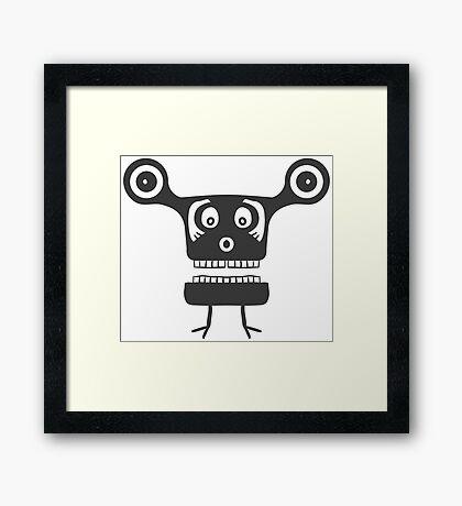 Cartoon robot art Framed Print