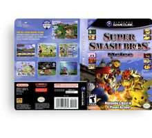 Super smash brothers melee for the nintendo gamecube Canvas Print