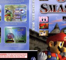 Super smash brothers melee for the nintendo gamecube Sticker
