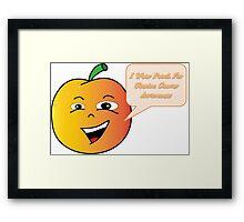 Uterine Cancer Awareness Peach Framed Print