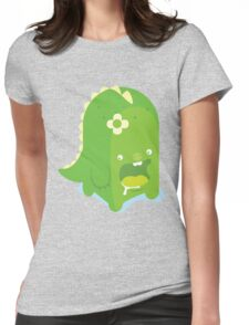 Green jelly dinosaur Womens Fitted T-Shirt