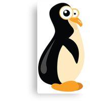 Funny yellow penguin cartoon Canvas Print