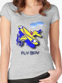 Fly Boy T-shirt & leggings design Women's Fitted Scoop T-Shirt
