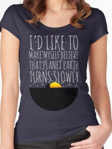 OWL CITY FIREFLIES QUOTE Women's Fitted Scoop T-Shirt