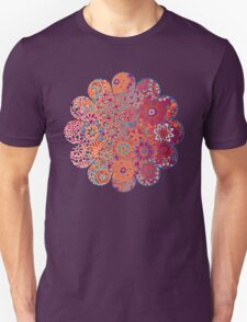 Psychedelic Ombre Flower Doodle Unisex T-Shirt