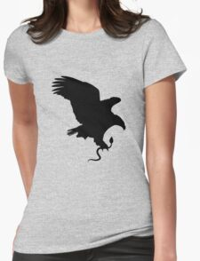 Eagle caught snake Womens Fitted T-Shirt