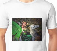 Glimpse of a woodland fairy by the stream Unisex T-Shirt