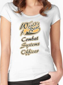 World's Best Combat Systems Operator Women's Fitted Scoop T-Shirt